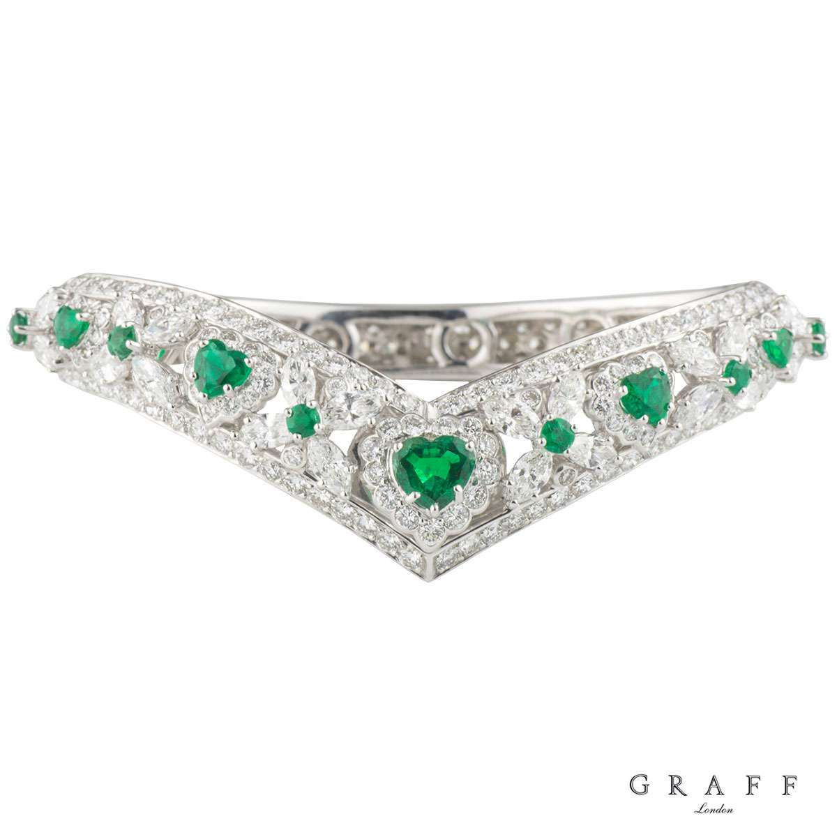 Graff Diamond, Emerald, Ruby & Sapphire Set Bangles - Rich ...